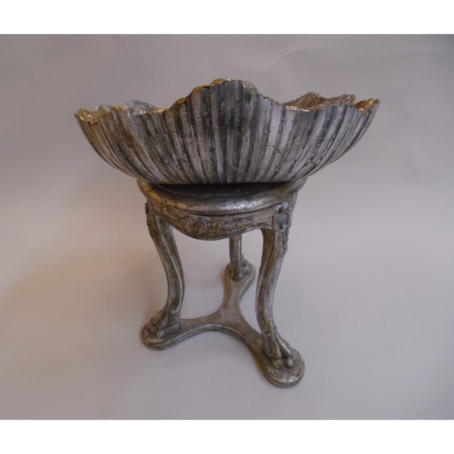 19th Century Italian Silver and Gold Gilt Cherrywood Grotto Seat For Sale - Image 9 of 13