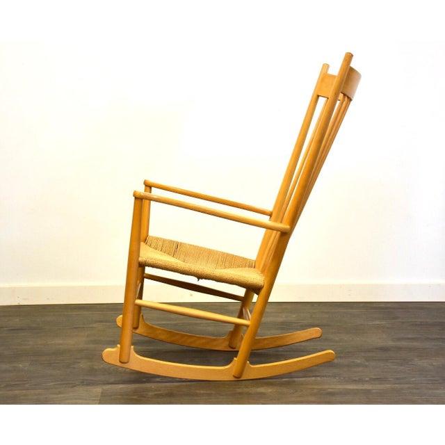 FDB Møbler Hans Wegner Danish Rocking Chair For Sale - Image 4 of 10