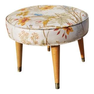 1960s Mid Century Modern Footstool Ottoman For Sale