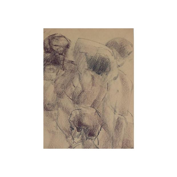 Vintage Drawing of Nudes by Paul Silverthorne - Image 3 of 5