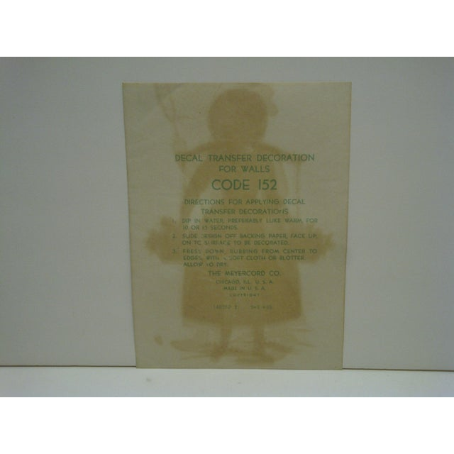 The Meyercord Co. Chicago Flower Girl Decal / Wall Decoration For Sale - Image 5 of 6