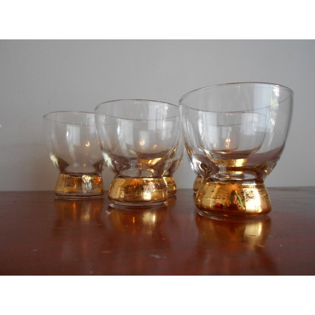 Gold Base Cocktail Glasses - Set of 6 For Sale - Image 4 of 5