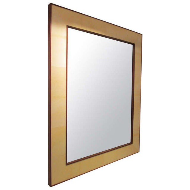 Custom Rectangular Parchment Mirror For Sale In New York - Image 6 of 6