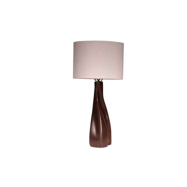 Not Yet Made - Made To Order Nectar Table Lamp - Dark Brown For Sale - Image 5 of 8
