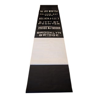 1950s Vintage New York City Subway Roll Sign For Sale