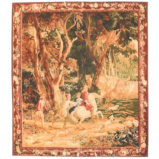 Early 20th Century Vintage Belgian Pictorial Tapestry For Sale