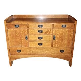 1990s Mission Stickley Oak Sideboard For Sale