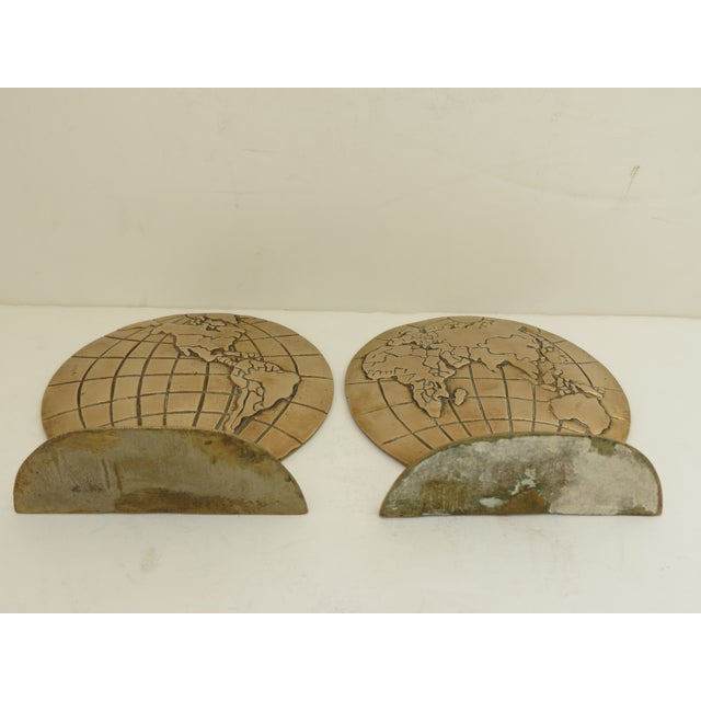 Solid Brass Globe Bookends - A Pair - Image 5 of 6
