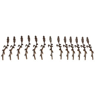 Cast Brass Wheat Decor- Set of 13 For Sale