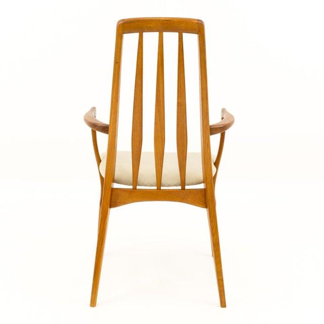 Wood Vintage Mid Century Niels Koefoed Hornslet Danish Teak Eva Dining Chairs - Set of 6 For Sale - Image 7 of 13
