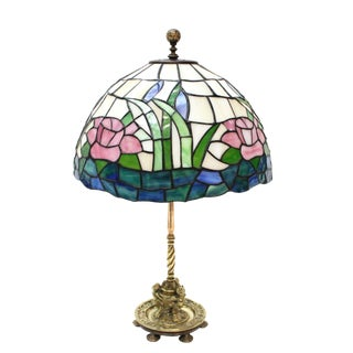 Tiffany Style Stained Glass Lamp For Sale