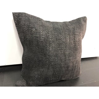Turkish Dark Gray Anatolian Boho Hemp Pillow Preview