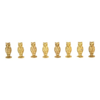 Gold Napier Owl Place Card Holders - Set of 8 For Sale