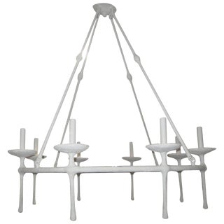 Custom Eight Arm Plaster Fixture in the Manner of Giacometti For Sale