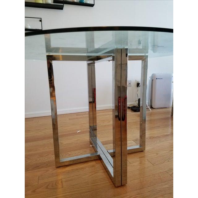 """Silverado Chrome 47"""" Round Dining Table - Image 4 of 5"""
