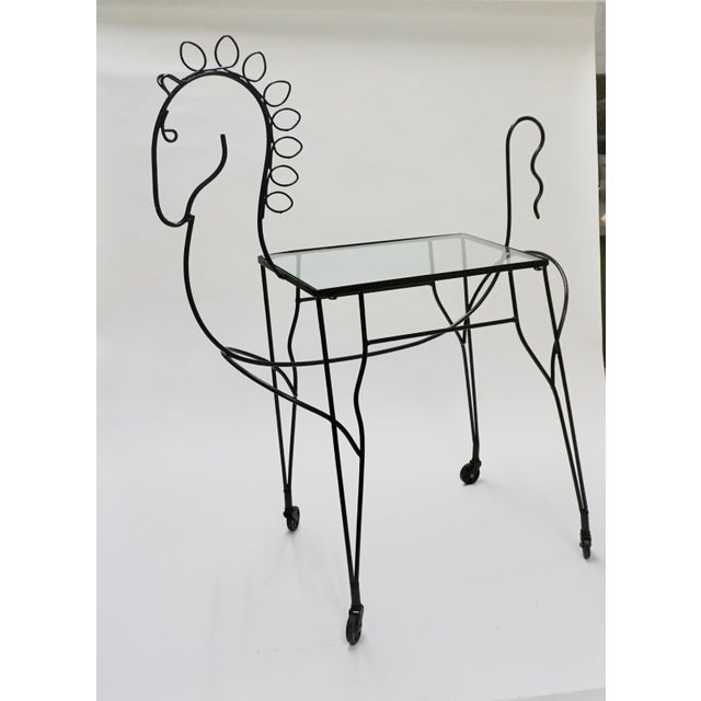 Frederick Weinberg 1950s Figurative Frederick Weinberg Horse Bar Cart For Sale - Image 4 of 5