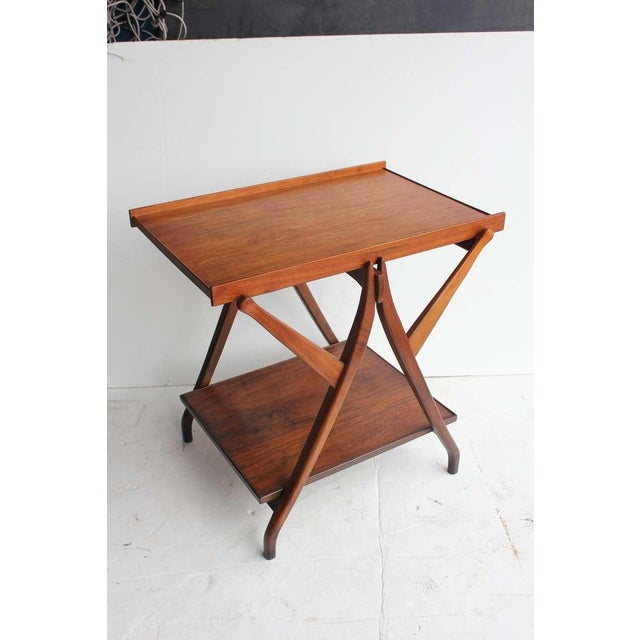 Drexel 1950's Vintage Kipp Stewart for Drexel Walnut Serving Table For Sale - Image 4 of 4