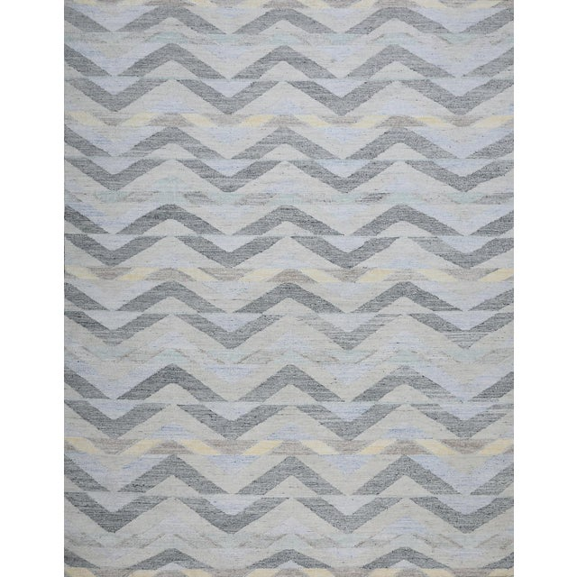 2010s Schumacher Patterson Flynn Martin Solona Hand Woven Geometric Rug For Sale - Image 5 of 5