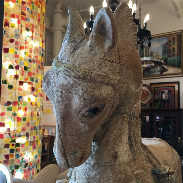 Antique Wooden Carousel Horse For Sale - Image 9 of 11