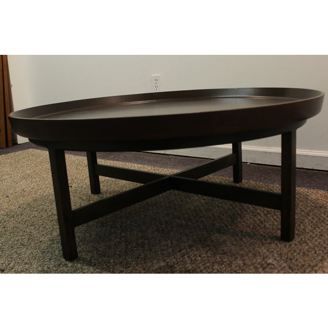 Mid-Century Modern Baker Round Flared Coffee Table - Image 9 of 11