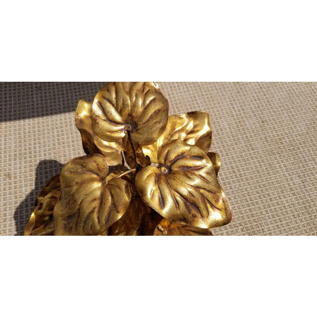1960s 1960s Vintage Italian Gilded Plant Shaped Table Sculpture For Sale - Image 5 of 8