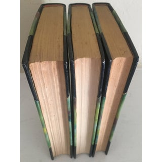 Early 20th Century Antique French Literature, Quarter Leather Binding Books - Set of 3 Preview