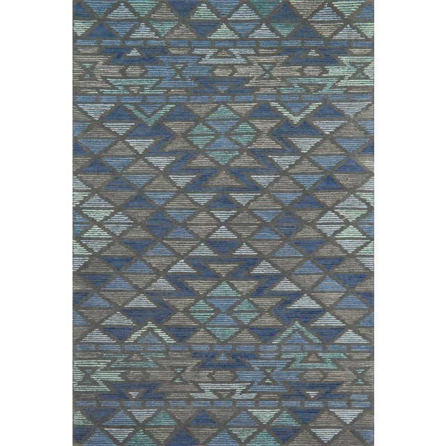 "Justina Blakeney X Loloi Rugs Gemology Rug, Navy Gray - 2'6""x7'6"" For Sale"