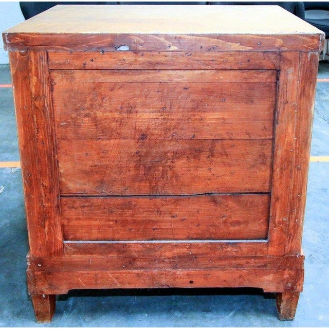 19th Century Biedermeier Walnut Inlaid Two-Drawer Commode For Sale - Image 4 of 10