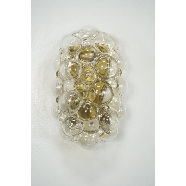 Metal Oblong Bubble Glass Wall Lights by Helena Tynell - a Pair For Sale - Image 7 of 8