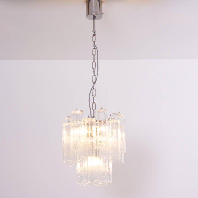 1980s Murano Glass Tronchi Chandelier For Sale - Image 5 of 5