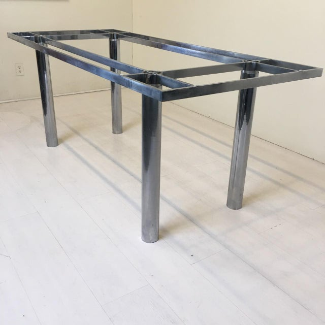 knoll andre chrome dining table base chairish. Black Bedroom Furniture Sets. Home Design Ideas