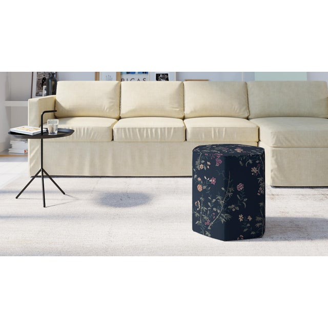 Our Hexagonal Ottoman works as a single accent or grouped together to create a modular coffee table and extra seating....