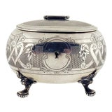 Image of Antique Austrian Silver Tea Caddy For Sale