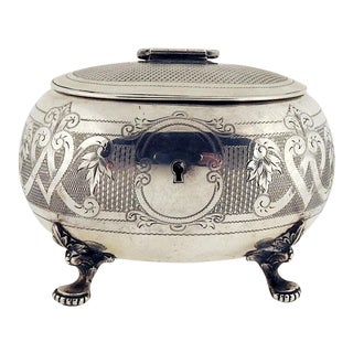 Antique Austrian Silver Tea Caddy