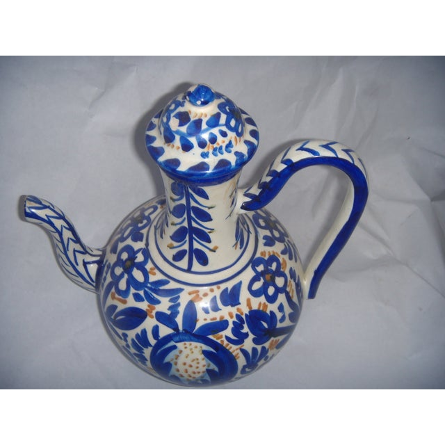 Blue & Gold Hand Painted Teapot - Image 5 of 9