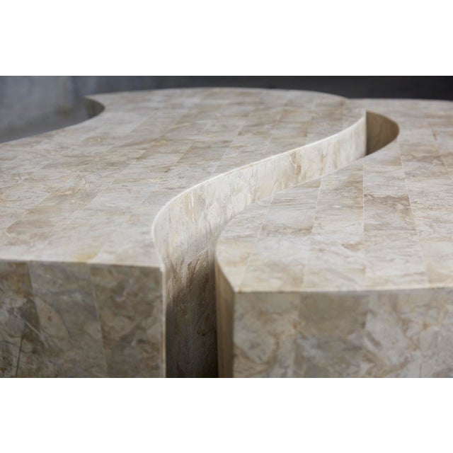 """1990s Contemporary Freeform Tessellated Stone Two Part """"Hampton"""" Coffee Table For Sale - Image 10 of 13"""