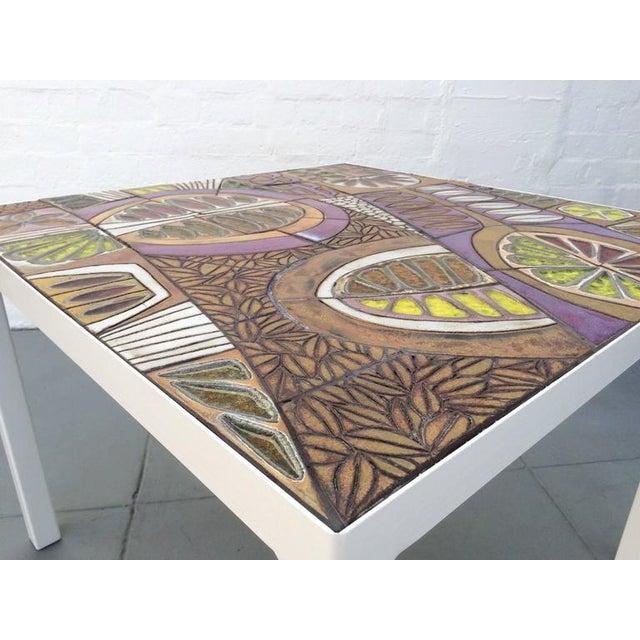 Orange Studio Ceramic Tile Top Table by Brent Bennett For Sale - Image 8 of 10