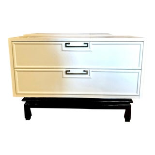 Pair of Lacquered Mid-Century Small Chest of Drawers or Night Stands For Sale