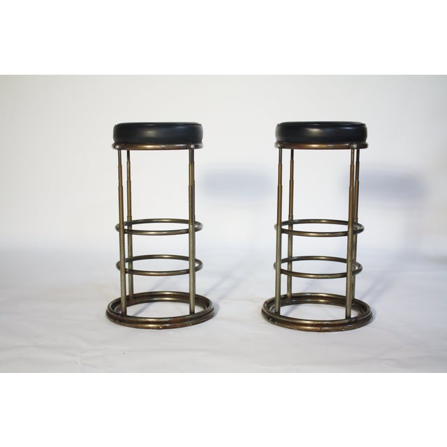 Machine Age Industrial Bar Stools - A Pair - Image 2 of 6