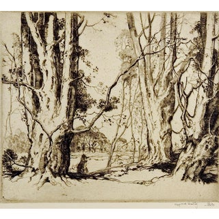 Beverly Beeches by Alfred Hutty Etching For Sale