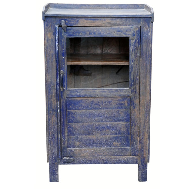 Distressed Navy Blue-Painted Cabinet - Image 1 of 2