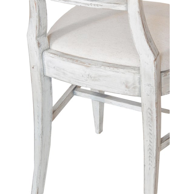 White Set of Four Gustavian Style Chairs For Sale - Image 8 of 10