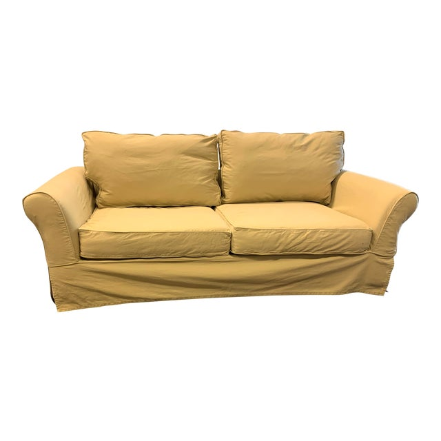 Pottery Barn Comfort Rolled Arm Sofa + Slipcover