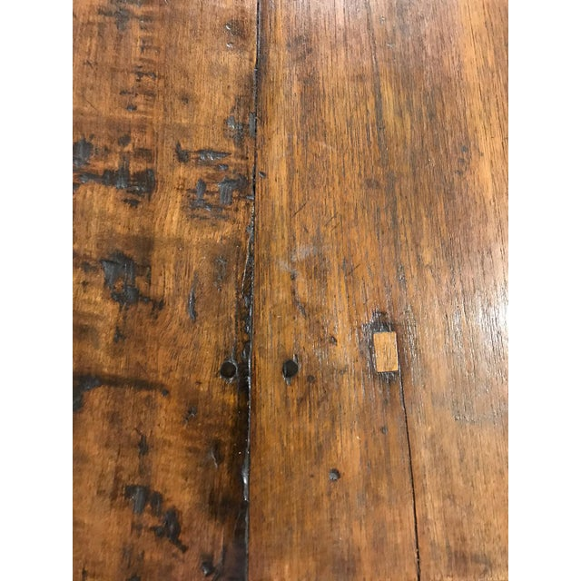 Antique Spanish Teak Dining Table For Sale In Los Angeles - Image 6 of 9