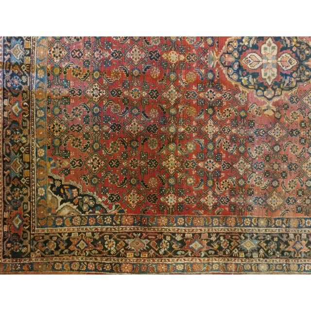 Vintage Persian Sarouk Rug- size 9x10 ft For Sale - Image 9 of 11