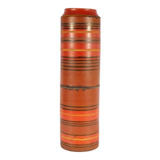 Alvino Bagni for Raymor Italian Mid-Century Orange Stripe Vase For Sale
