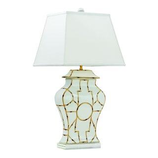 "Baldwin White Lamp 33""h For Sale"