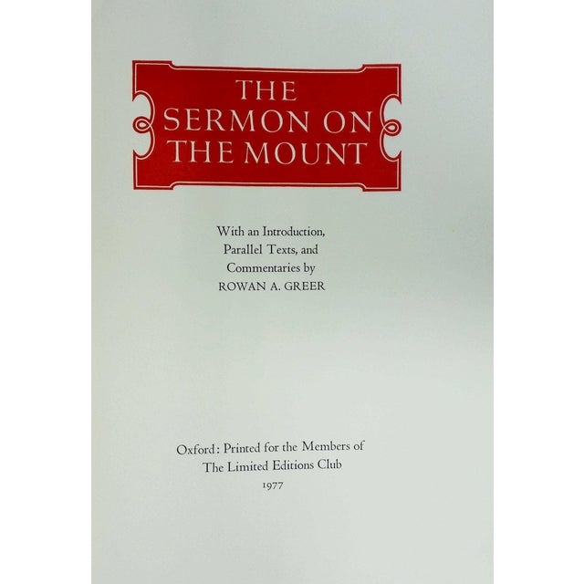 "Booth & Williams 1977 ""The Sermon On The Mount"" Coffee Table Book For Sale - Image 4 of 6"