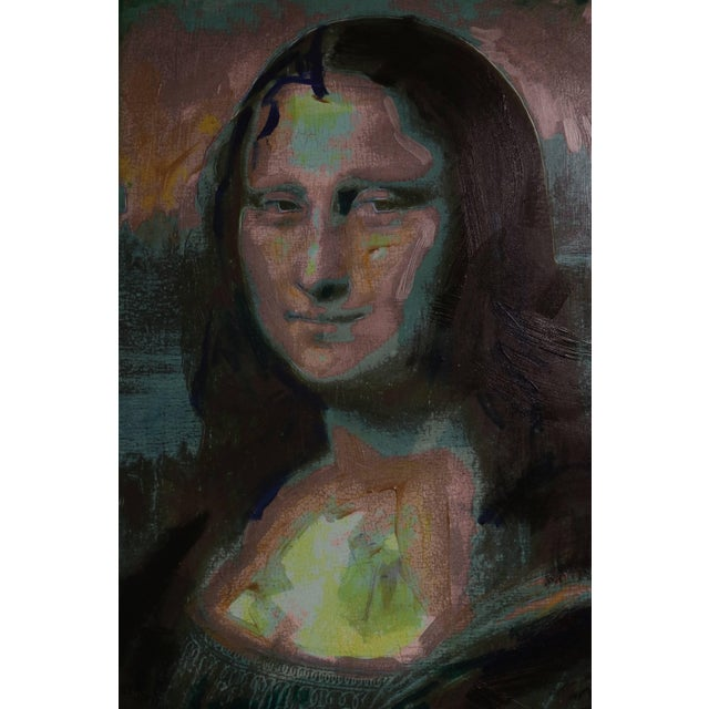 1982 Homage to Warhol Giclee Painting of the Mona Lisa by M. Eisner For Sale - Image 9 of 13
