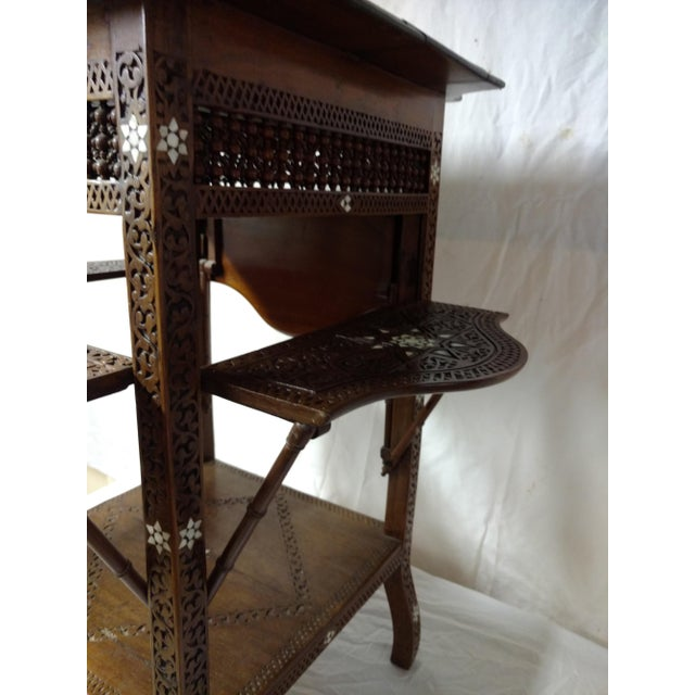 19th Century Anglo Indian Inlaid Wood Tea Table For Sale - Image 9 of 10